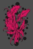 Estratto dei fiori e dell'erba Immagini Stock