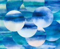 Estratto dei giri Acquerello Dots Background cerchi Illustrazione di Stock