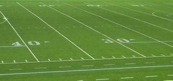Estratto del campo di football americano fotografia stock libera da diritti