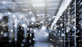 Estratto del centro dati alta tecnologia moderno di Internet Fotografia Stock Libera da Diritti