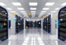 Estratto del centro dati alta tecnologia moderno di Internet Immagini Stock Libere da Diritti