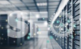 Estratto del centro dati alta tecnologia moderno di Internet Fotografie Stock