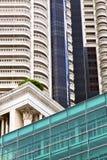 estratto del distretto di ufficio della Tailandia del terrazzo di Bangkok la b Fotografie Stock Libere da Diritti