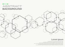Estratto del fondo del collegamento del modello di forma di pentagono con lo PS Royalty Illustrazione gratis