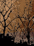 Estratto del fondo degli alberi fotografia stock