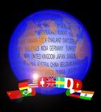 Estratto del globo Fotografia Stock