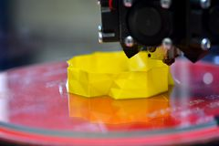 estratto del modello del primo piano della stampante di stampa 3d Immagine Stock