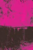 Estratto del nero sul colore rosa Fotografie Stock Libere da Diritti