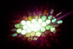 Estratto dell'indicatore luminoso delle paglie variopinte Fotografie Stock