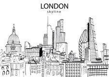 Estratto dell'orizzonte di Londra Fotografia Stock Libera da Diritti