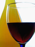 Estratto della bottiglia & di vetro di vino Fotografia Stock