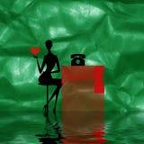 Estratto della donna con cuore illustrazione di stock