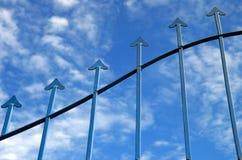 Estratto della freccia Fotografie Stock