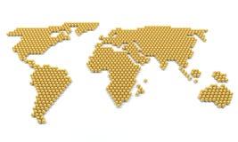 Estratto della mappa di mondo Fotografia Stock