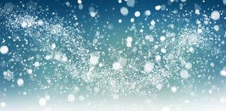 Estratto della neve di inverno Immagini Stock Libere da Diritti