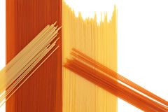 Estratto della pasta del grano e del pomodoro Immagine Stock Libera da Diritti
