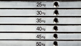 Estratto della pila del peso Fotografie Stock