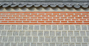 Estratto della priorità bassa del tetto di struttura del tempiale della parete Immagine Stock