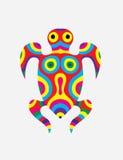 Estratto della tartaruga colorfully Fotografie Stock