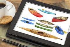 Estratto delle barche di rematura Fotografia Stock Libera da Diritti