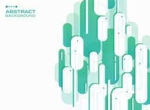 Estratto delle linee di striscia verticali di verde di pendenza di tecnologia patte royalty illustrazione gratis
