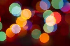 Estratto delle luci di Natale Immagine Stock