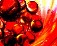 Estratto delle palle di fuoco II Immagine Stock