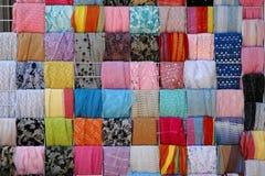 Estratto delle sciarpe Fotografie Stock Libere da Diritti