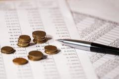 Estratto delle spese di esercizio Immagine Stock Libera da Diritti