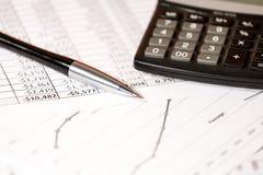 Estratto delle spese di esercizio Immagine Stock