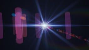 Estratto di accensione del chiarore digitale della lente nel fondo scuro Fotografia Stock