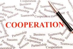 Estratto di affari - cooperazione Fotografie Stock
