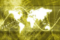 Estratto di affari di mondo di Digitahi illustrazione vettoriale