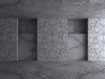 estratto di architettura 3D Priorità bassa del muro di cemento Immagine Stock