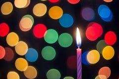 Estratto di arte di Bokeh della candela Fotografie Stock