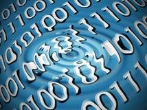 Estratto di codice binario Immagini Stock Libere da Diritti