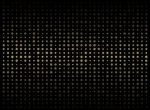 Estratto di fondo scuro sul picchiettio casuale di dimensione di forma del cerchio dell'oro royalty illustrazione gratis