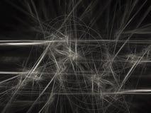 Estratto di frattale, fondo digitale del materiale illustrativo dell'ornamento di stile, progettazione creativa, caos in bianco e illustrazione di stock