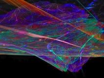Estratto di frattale, fondo digitale fantastico variopinto di sogno di forma di concetto, progettazione creativa, caos illustrazione di stock