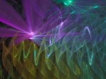 Estratto di frattale, futuristico generato digitale, progettazione creativa della discoteca moderna di infinito, caos illustrazione vettoriale