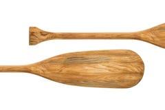 Estratto di legno della pagaia della canoa Fotografia Stock