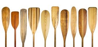 Estratto di legno della pagaia della canoa Fotografie Stock Libere da Diritti