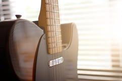 Estratto di macro della chitarra elettrica Immagine Stock Libera da Diritti
