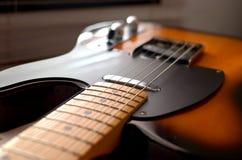 Estratto di macro della chitarra elettrica Fotografia Stock Libera da Diritti