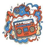 Estratto di musica illustrazione vettoriale