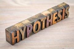 Estratto di parola di ipotesi nel tipo di legno immagine stock libera da diritti