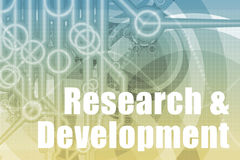 Estratto di ricerca e sviluppo Fotografie Stock