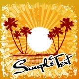 Estratto di Sun della spiaggia dell'oceano Immagini Stock