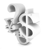 Estratto di valuta Immagini Stock