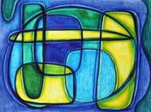 Estratto di verde blu della calce illustrazione di stock